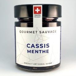 Cassis Menthe • Confiture artisanale premium suisse • Gourmet Sauvage