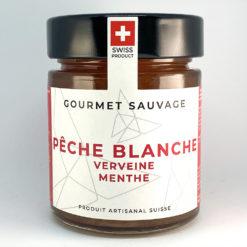 Pêche blanche Verveine Menthe • Confiture artisanale premium suisse • Gourmet Sauvage 🇨🇭