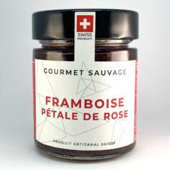 Framboise Pétale de rose • Confiture artisanale premium suisse • Gourmet Sauvage 🇨🇭